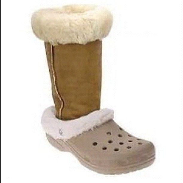 ed9c3d5d7ce The ugliest shoe ever = Uggs + Crocs | Really Ugly Shoes | Ugly ...