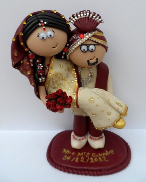 A Recent Asian Wedding Cake Topper Couple This One Took Me Long Time I Ship World Wide