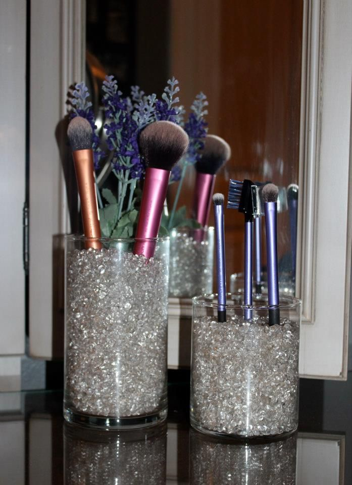 My Version Of The Sephora Style Makeup Brush Stand 299 Jar And