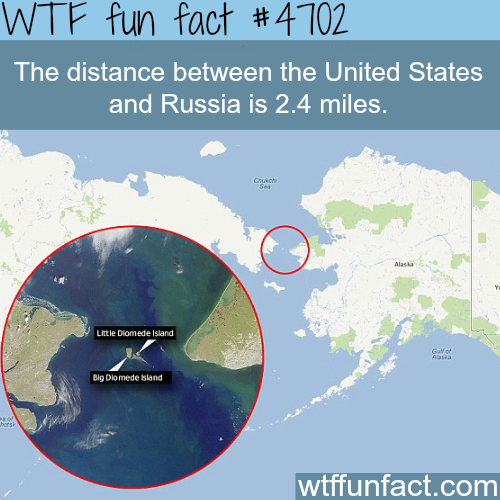 The Distance Between The US And Russia WTF Fun Facts Stuff - 10 interesting facts about russia
