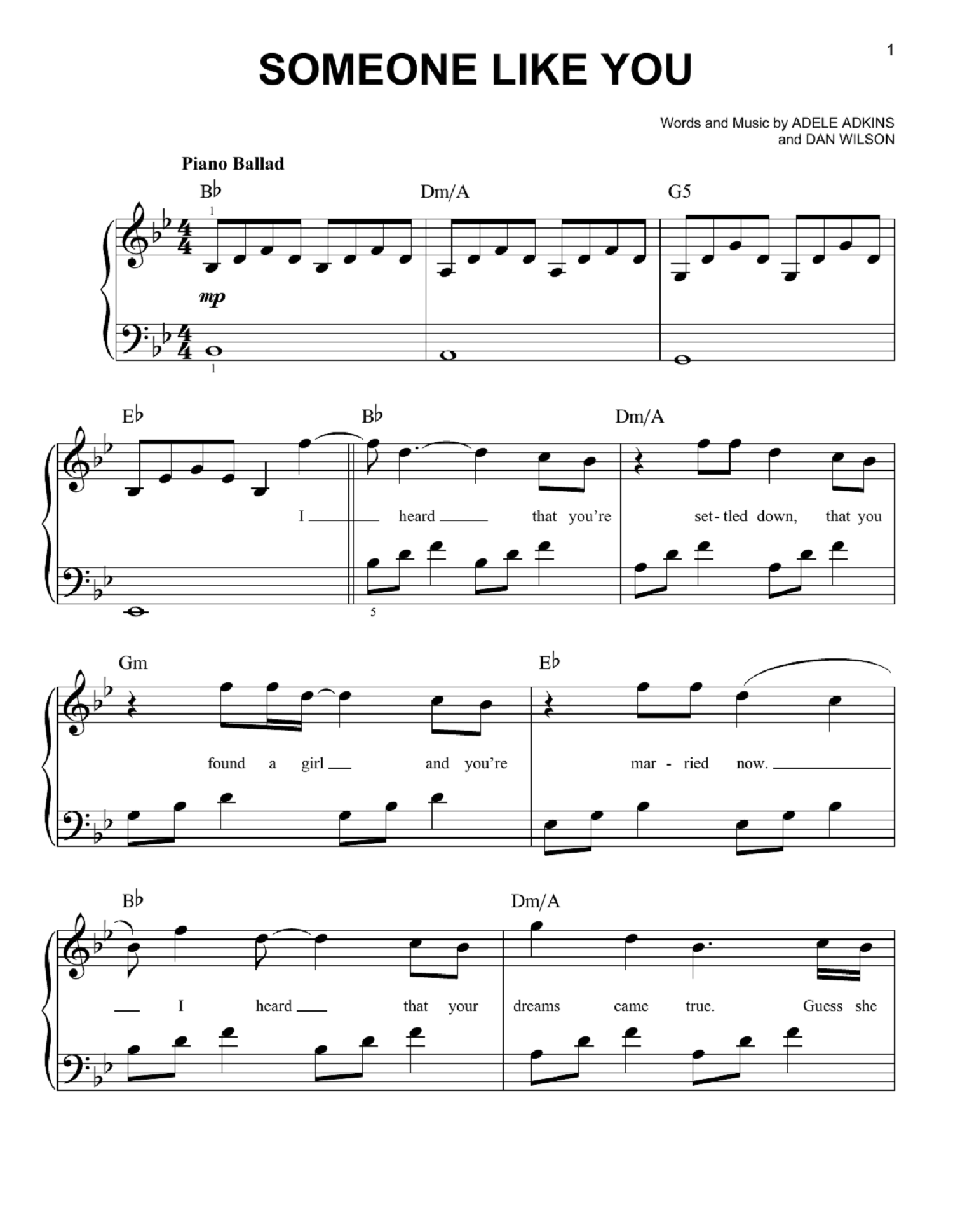 Adele piano sheet music for best music chords music sheet adele piano sheet music for best music chords hexwebz Image collections