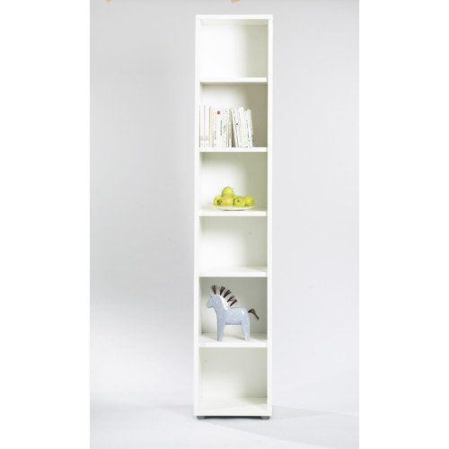 white office bookcase. Guest Bed Construction | Tvilum Fairfax Tall Narrow Bookcase In White: Office : Walmart. White W