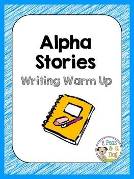Alpha Stories Writing Warm Up  Get your students warmed up for writer's workshop with this fun story writing activity using the alphabet! ($1.50)