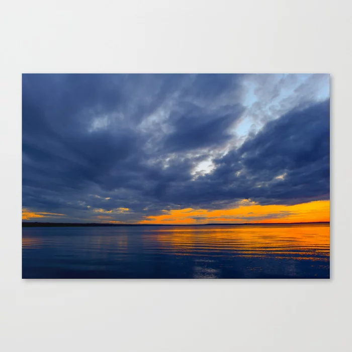 Twilight Sky In Dark Blue Clouds Canvas Print Twilight Sky Sunset Landscape Photography Cloud Canvas