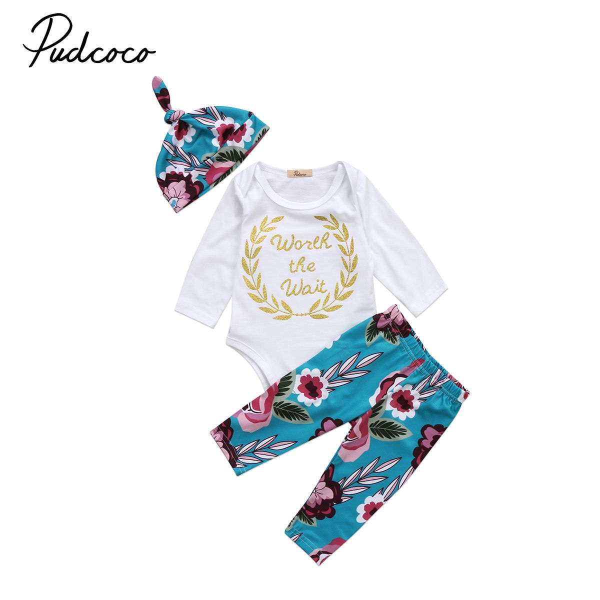 7879598125c5 Pudcoco 3PCS Winter Newborn Toddler Baby Boy Girl Bodysuits Tops ...
