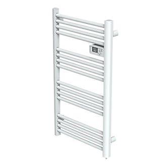 Electric Pre Filled Towel Radiator 980 X 550mm White Towel Radiator Electric Towel Rail Towel Rail