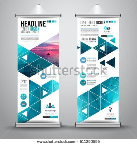 Advertisement roll up business flyer or brochure banner with - advertisement brochure