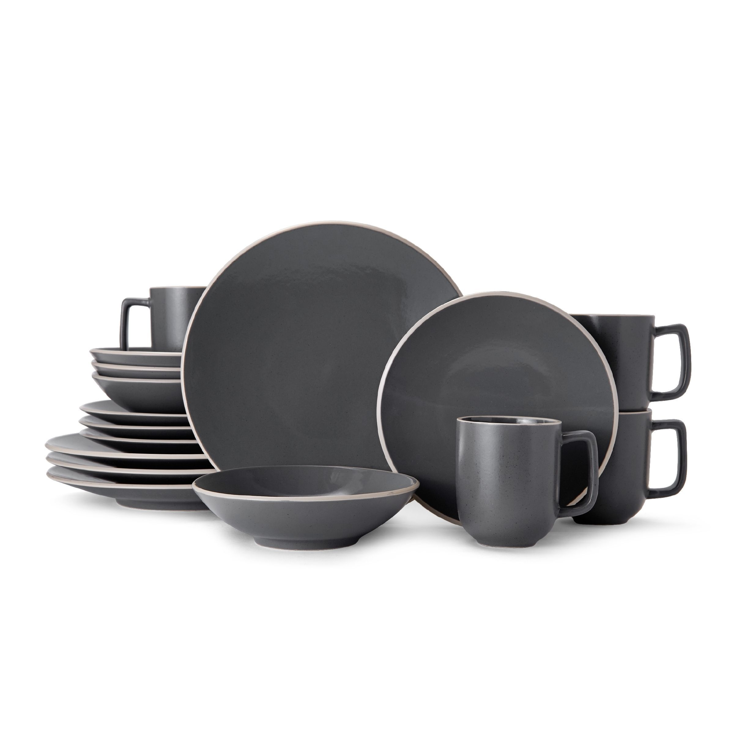 Mikasa Leah Charcoal Stoneware Dinnerware Set for 4 - Case of 16 (Mikasa Leah Charcoal  sc 1 st  Pinterest & Mikasa Leah Charcoal Stoneware Dinnerware Set for 4 - Case of 16 ...