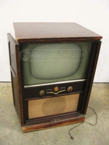 1950's Crosley TV In Wood Cabinet | Old Televisions | Pinterest ...