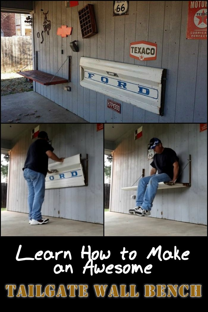 How To Build A Tailgate Wall Bench Wall Bench Tailgate Bench Cool Furniture