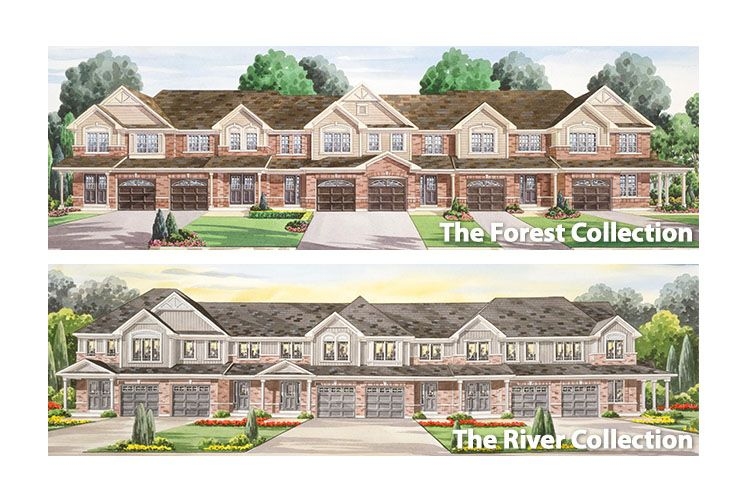 Grand Valley Trails Townhomes In Brantford Brookfield Homes House Designs Exterior Brookfield Residential