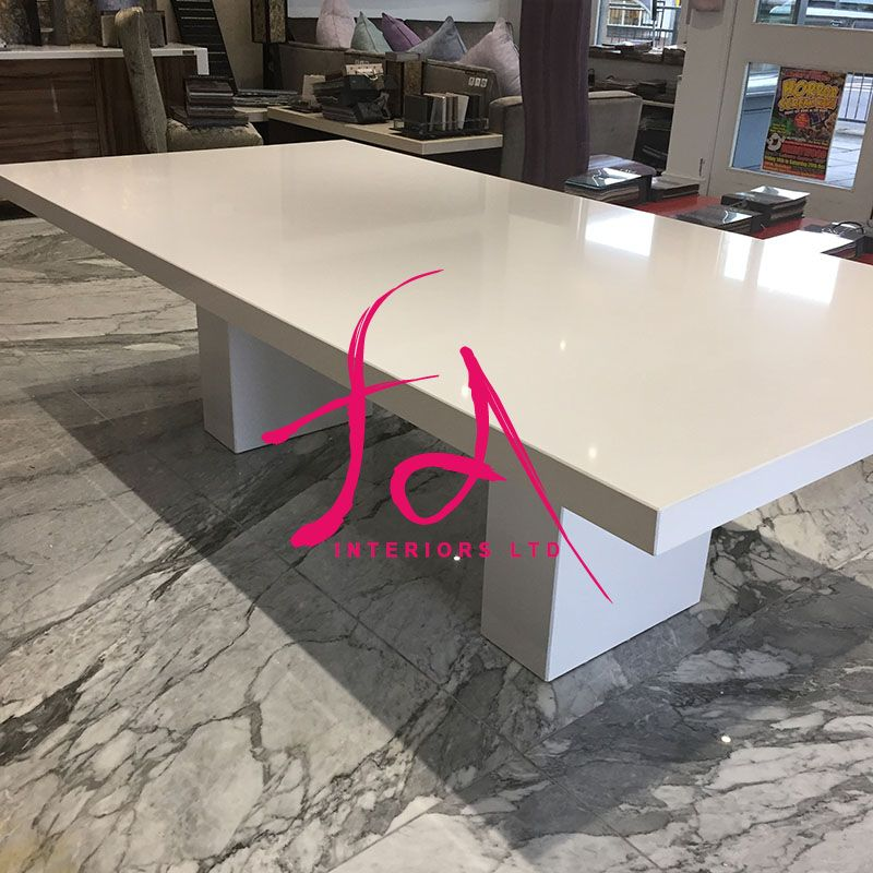 This Opulent Quartz Bespoke Large 2m Dining Table Is A Stunning Addition To Our Quartz Furniture Range And Is Ma Dining Table Dining Room Cozy Dining Table Top