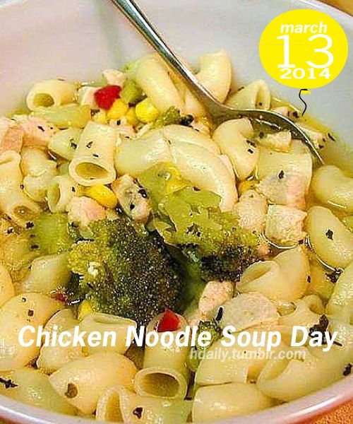 Chicken Noodle Soup Day!