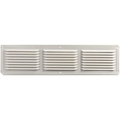 master flow 16 in. x 4 in. aluminum under eave soffit vent