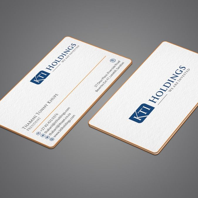 Kti Business Cards By I Am Back Business Card Logo Business Card Logo Design Business Cards