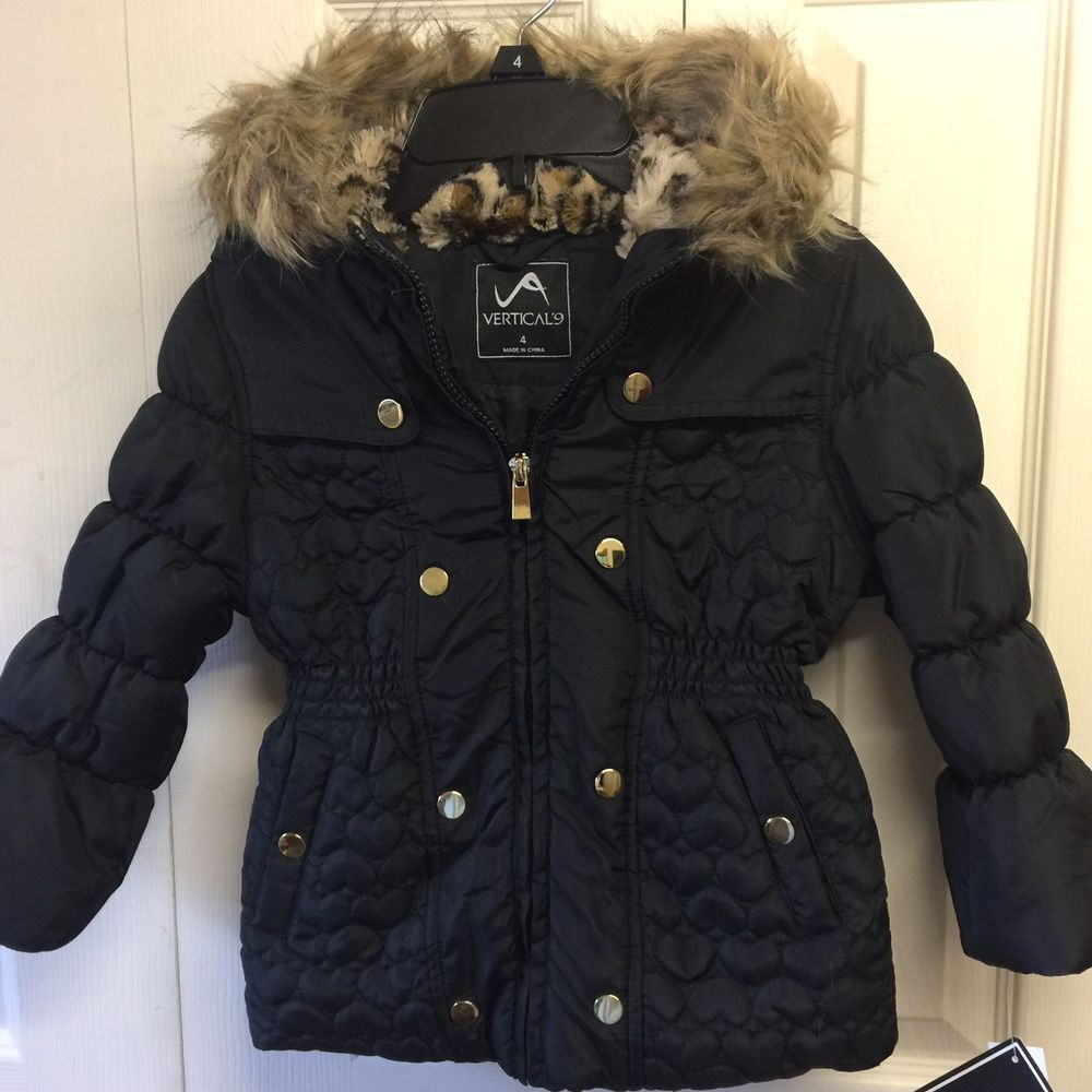 Old Navy Boys Hooded Faux-Fur Trim Parka:Various Colors /& Sizes M-XL NWT $70