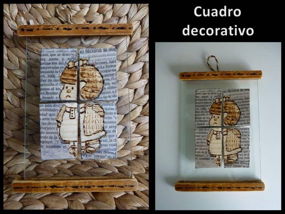 Cuadro artesanal decorativo Mafalda
