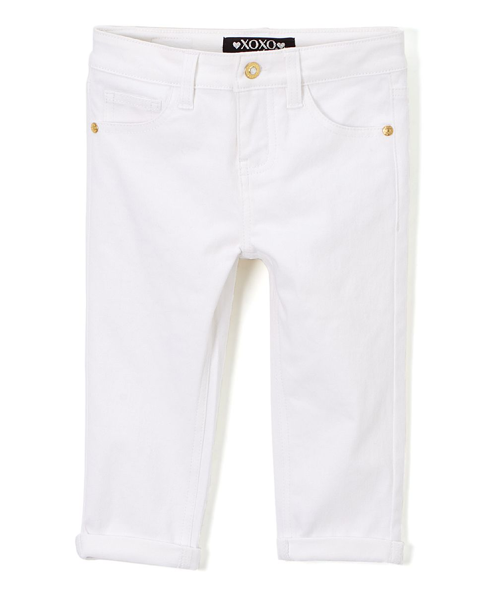White Capri Pants - Girls | Capri, Pants and White capris