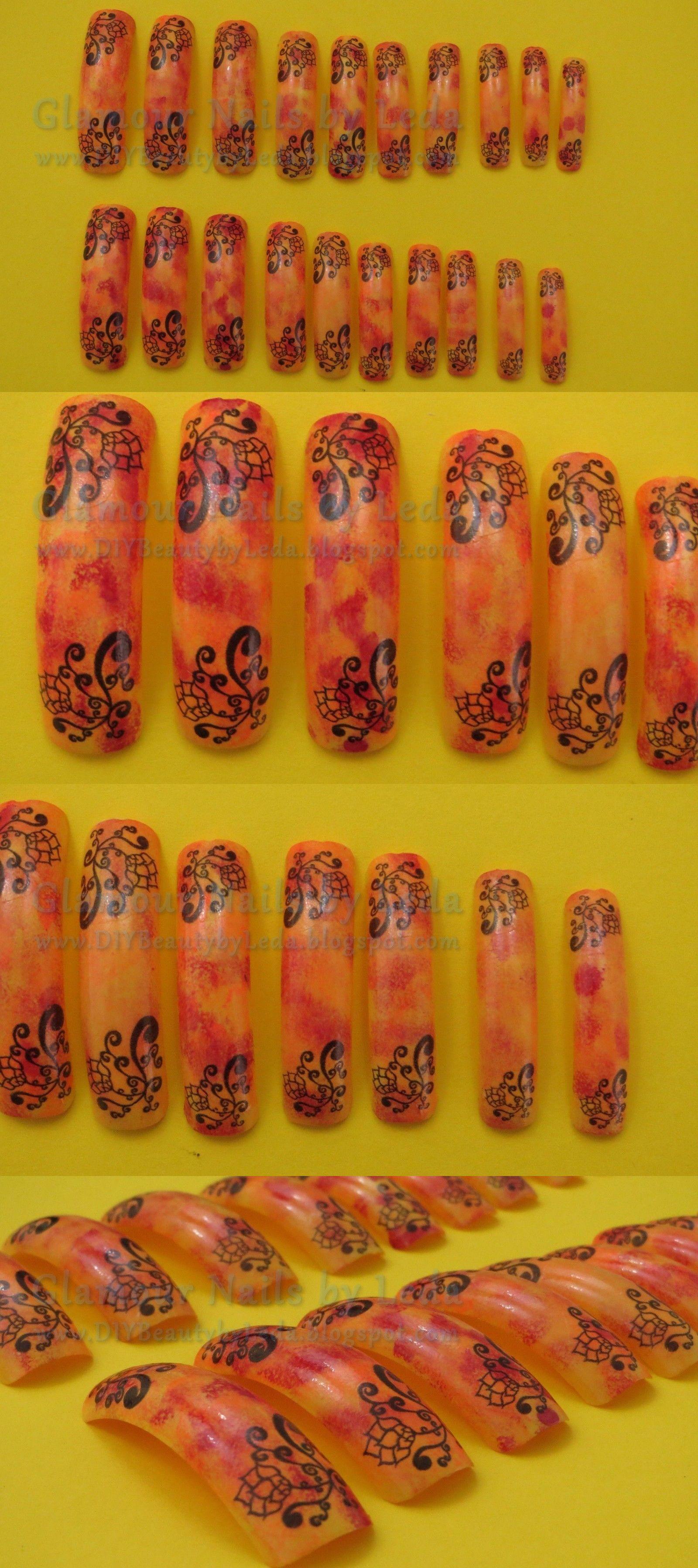 Artificial Nail Tips: 20 Extra Long Square Nail Tips Fall Camo ...