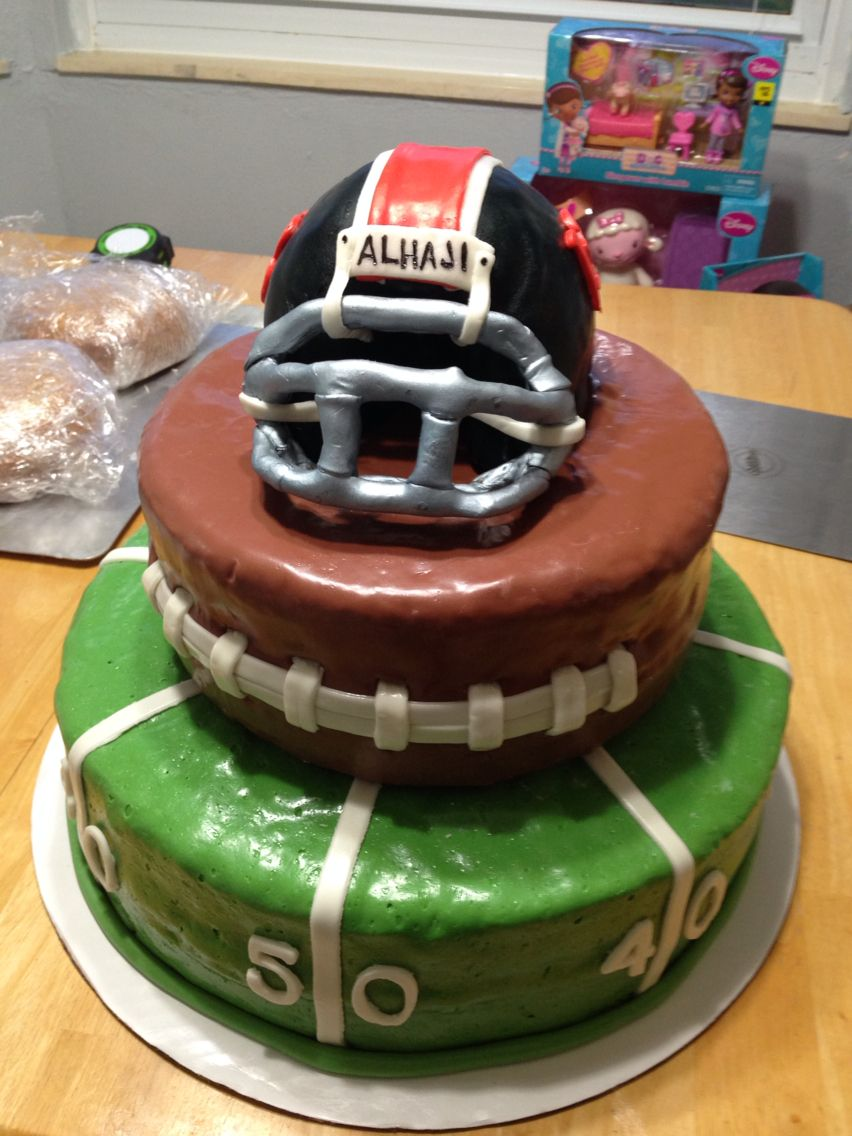 Fun Football Birthday Cake For A 13 Year Old Boy