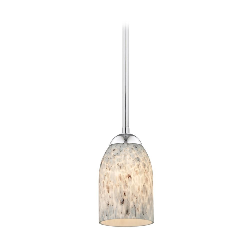 Modern Mini Pendant Light With Grey Art Glass Ceiling Pendant