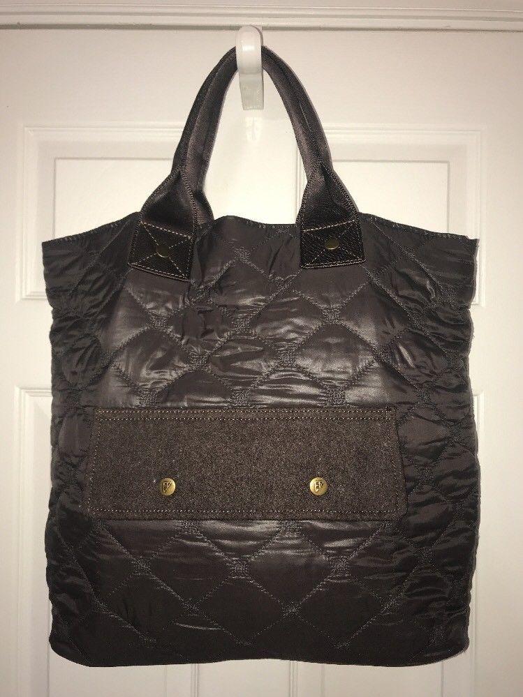 Ed Bauer Seattle Usa Women S Brown Nylon Tote Extra Large Xl Ebay