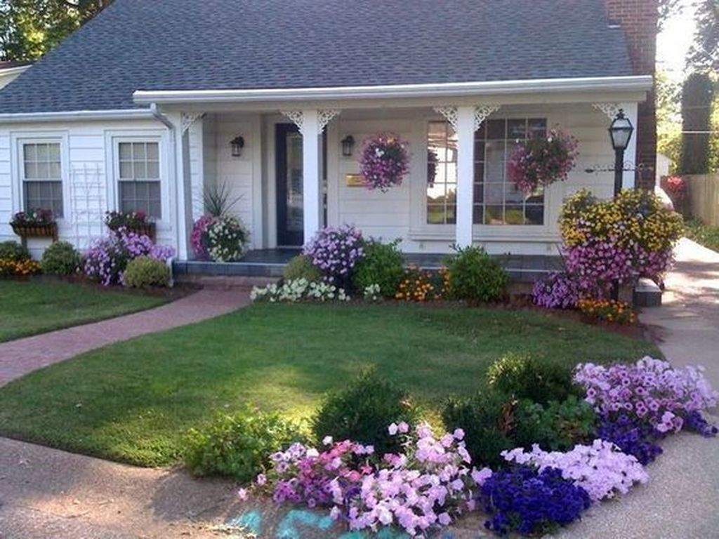46 Beautiful Simple Front Yard Landscaping Design Ideas in ...