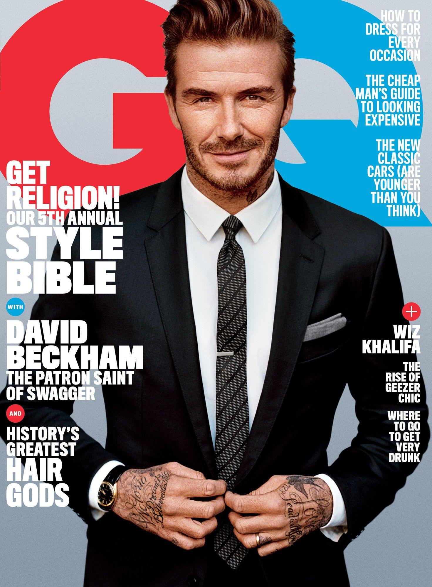 585ad2790 David Beckham by Alesdair McLellan for GQ April 2016 Cover #dgman ...