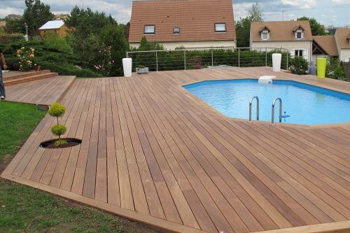 Monter Une Terrasse Bois Autour De Ma Piscine  Piscine Rebord