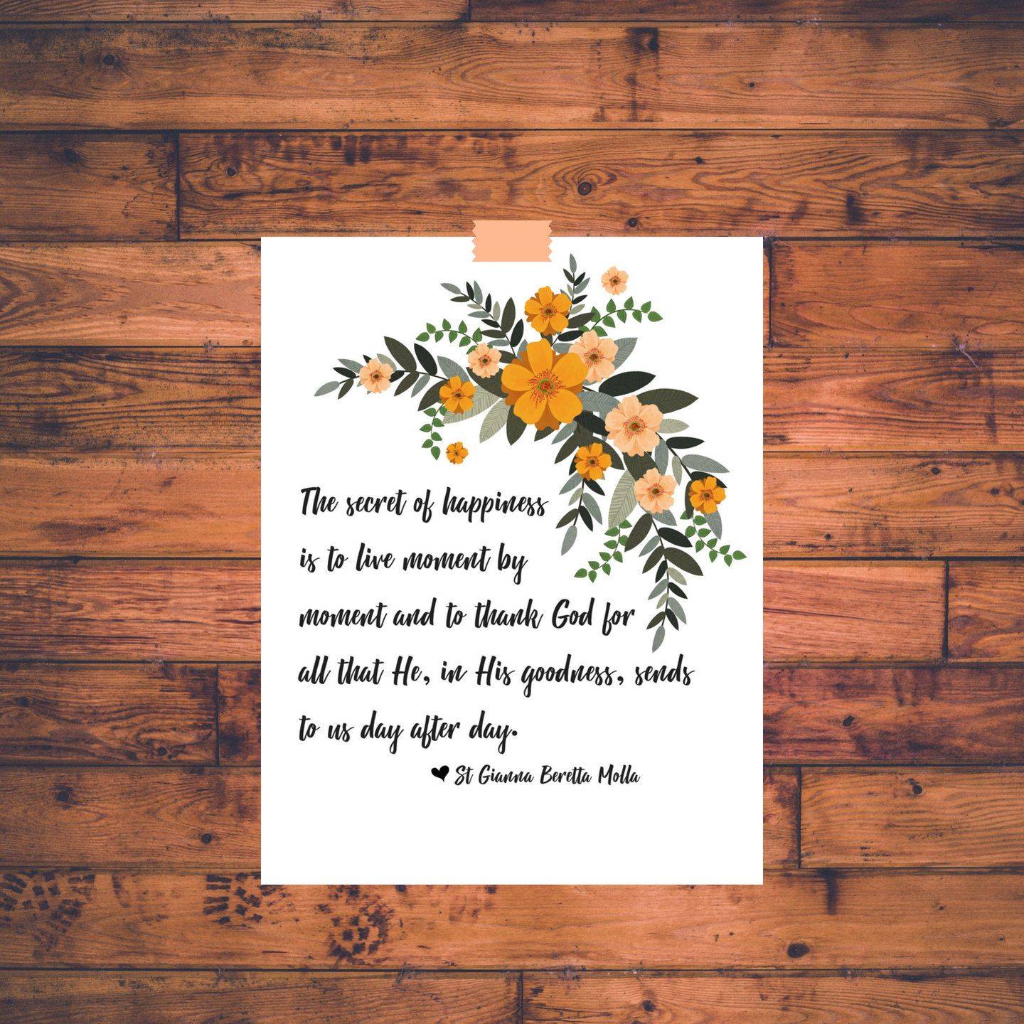 Printable St Gianna Quote