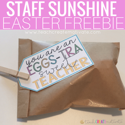 Spread staff sunshine with this free Easter tag!