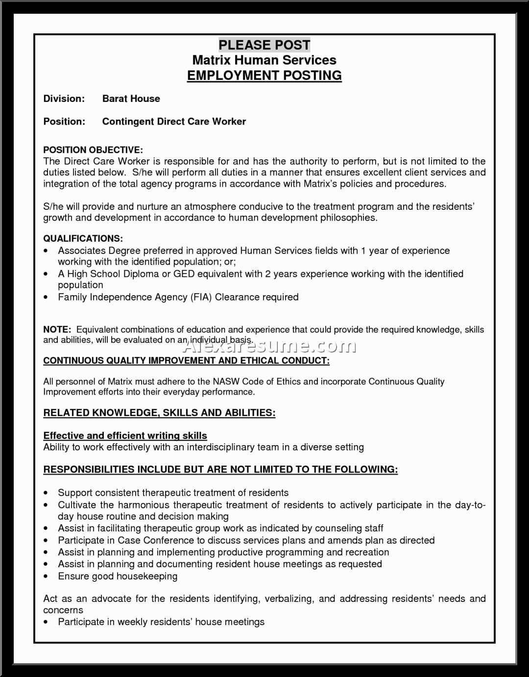 Childcare Resume Child Care Provider Resume Examples Worker Robinson Brittnei