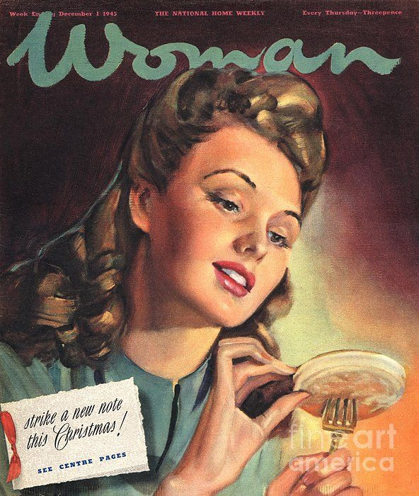 Woman 1945 1940s Uk People Eating | Magazine covers and