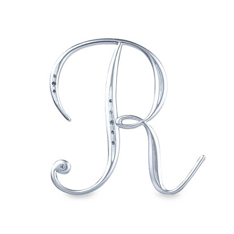 Lillian Rose Silver Letter R Monogram With Rhinestones Bed Bath Beyond Lillian Rose Silver Roses Monogram