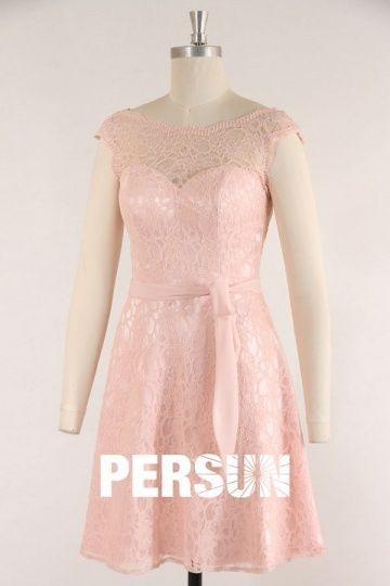 Petite robe rose pastel