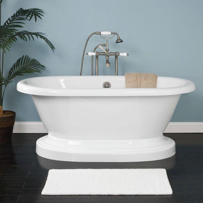 60 Avon Double Ended Bath on Plinth 59-1/8\