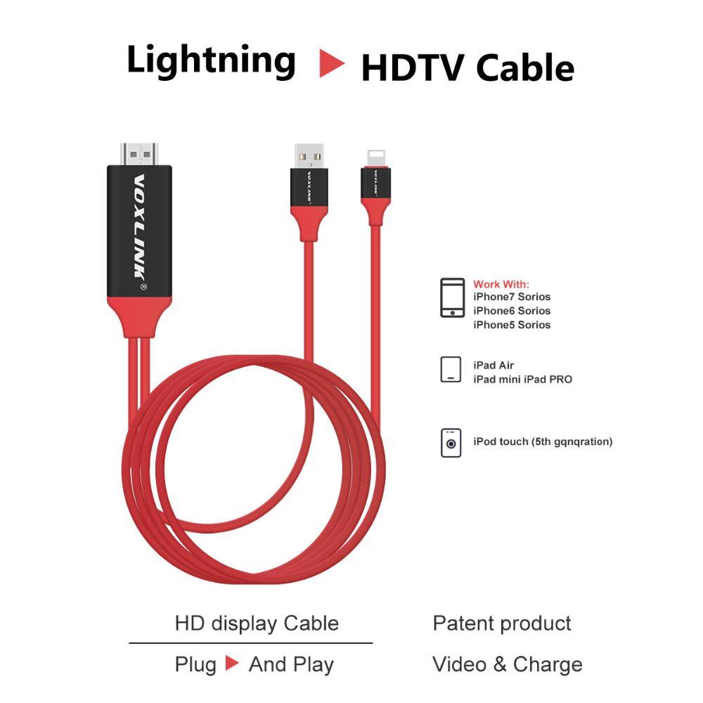 Voxlink 2 mt für blitz zu hdmi/hdtv av tv kabel adapter 1080 p für ...