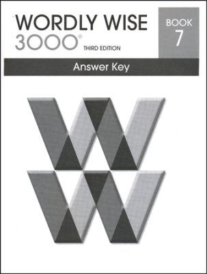 wordly wise 3000 3rd edition answer key book 7 7th grade