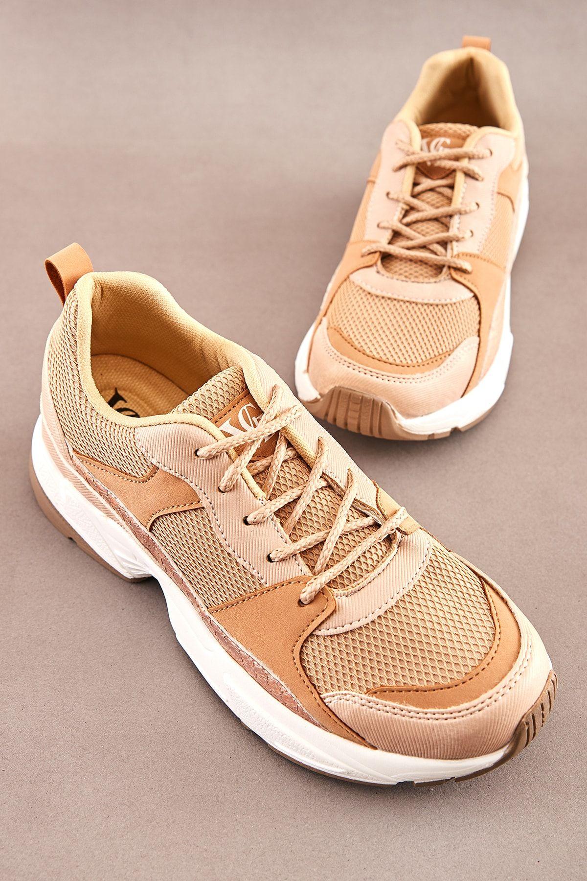 Bambi Bej Kadin Sneaker K06136550 Trendyol 2020 Sneaker Bambi Bej