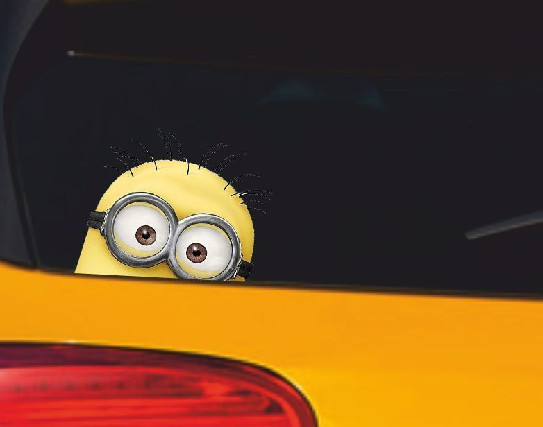 MINION Car Decal Sticker VanBumperWindow Vinyl Decal Sticker - Minion custom vinyl decals for car