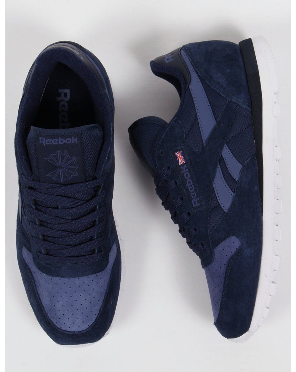 35fe4797ab0 Reebok Classic Leather NP Trainers Navy Midnight Blue