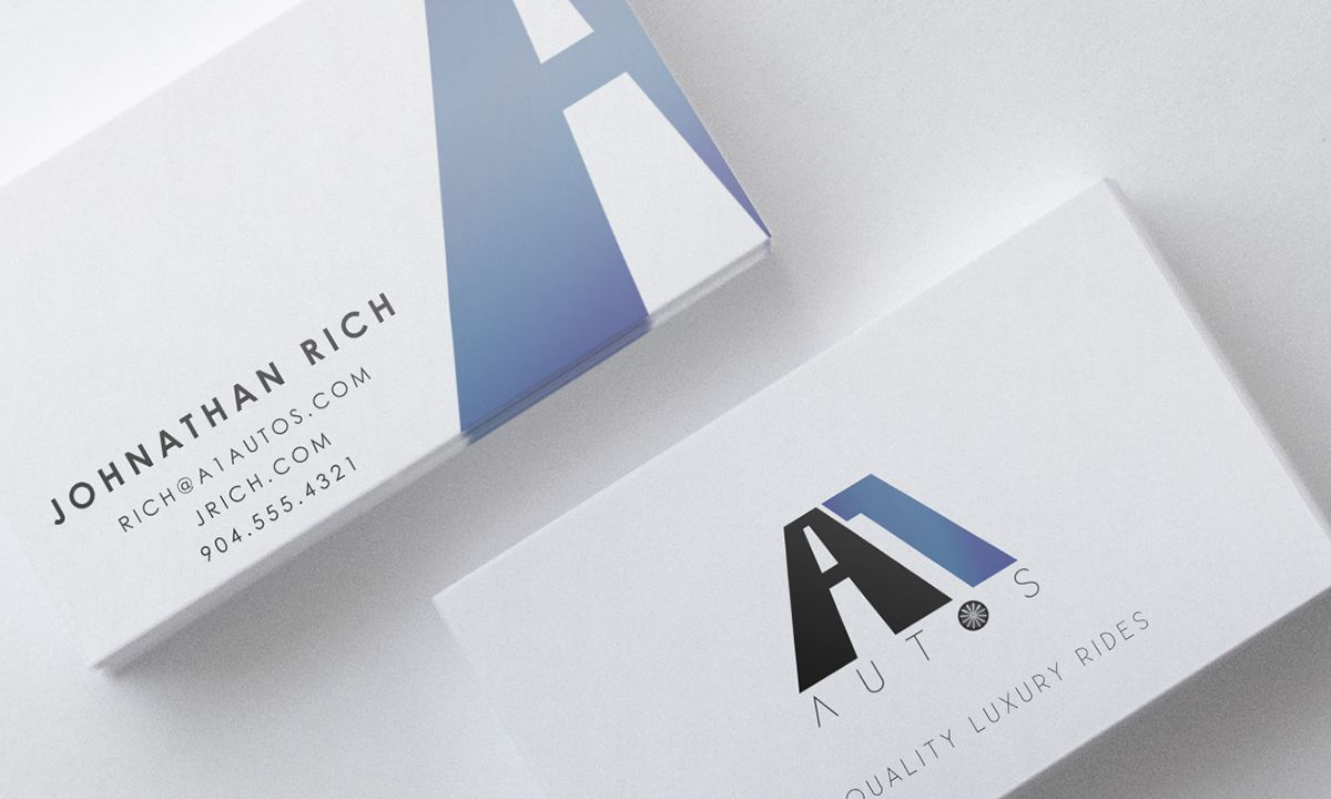 A Autos Business Card Template  Free Premium Business Card