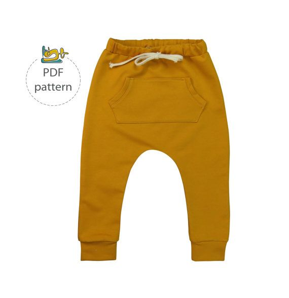 Harem pants pattern, baby harem pants sewing pattern, pdf, baby ...