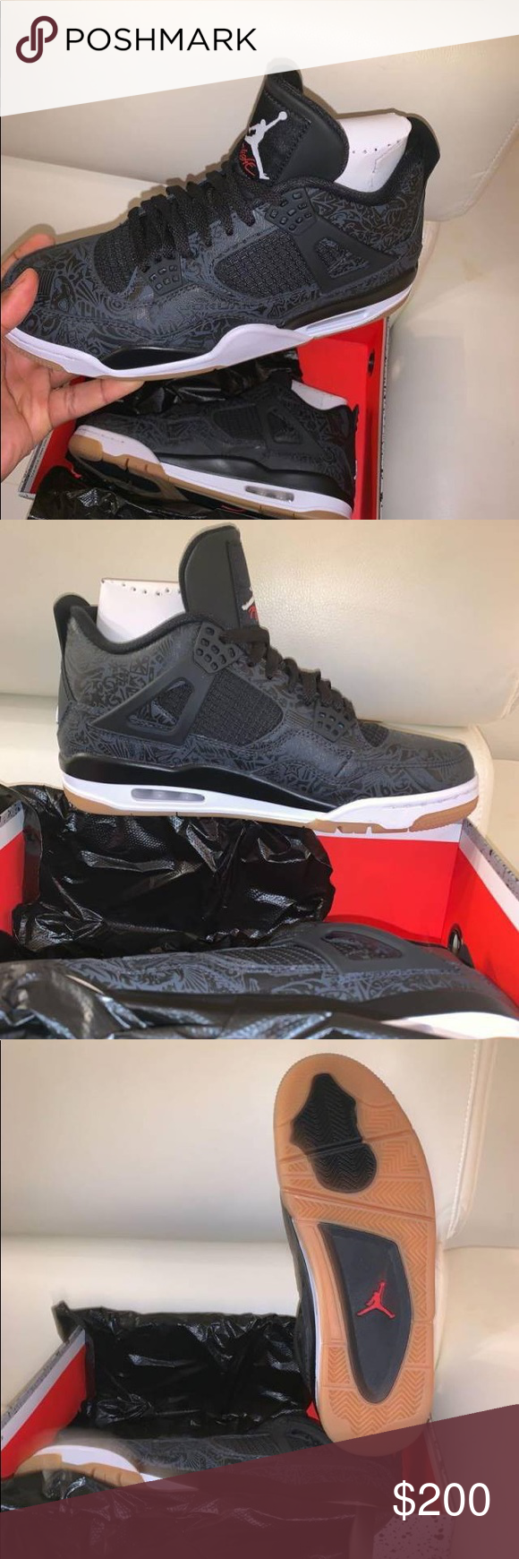 30f1956d5311eb Air Jordan 4 SE Laser Black Gum Finally got these in stock Looking to sell  ASAP