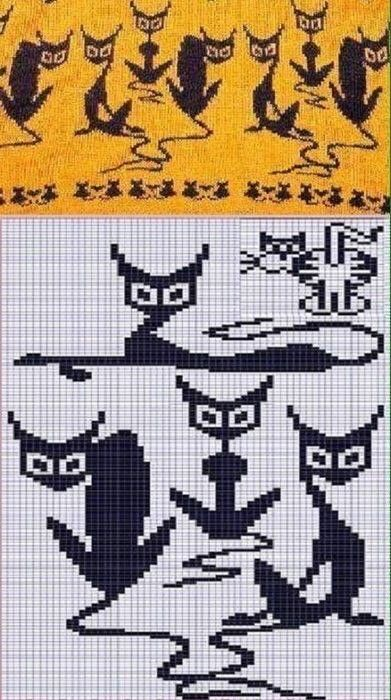 Pin by brenda alui on cats   Pinterest   Fair isles, Cross stitch ...