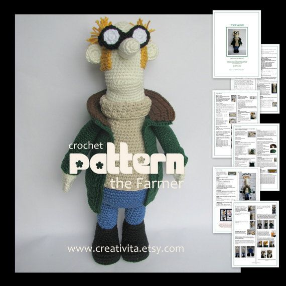 The Farmer from Shaun the Sheep | Nerdy Crochet Patterns/Projects ...