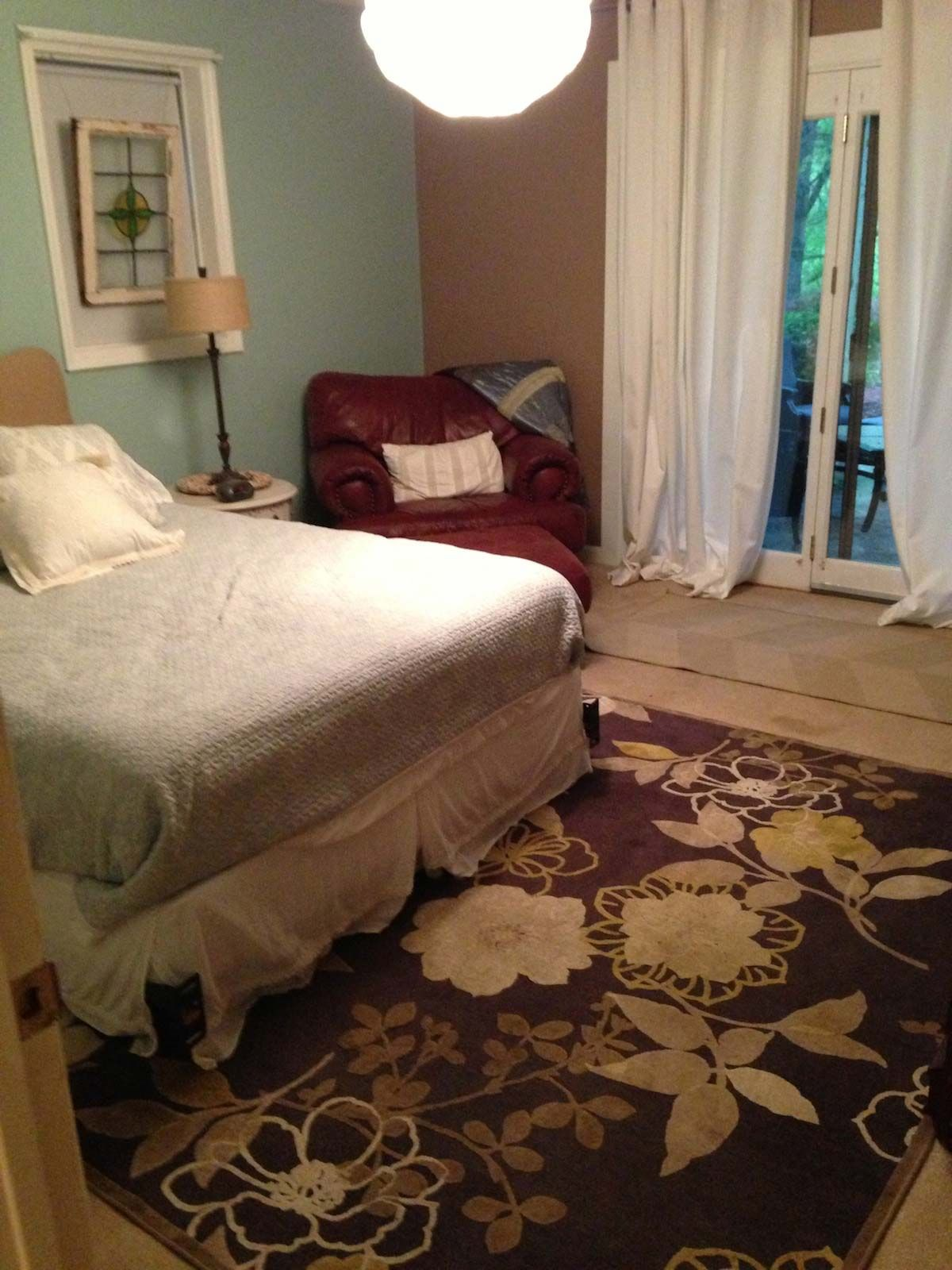 Painted Floors with Annie Sloan Chalk Paint Bedroom
