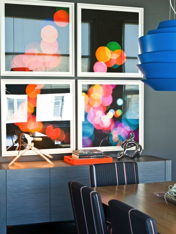 Galleries · These Bold Colors Look Great In This Modern Dining Room.