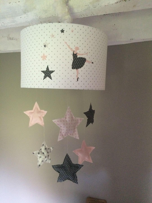 abat jour original suspension danseuse etoiles d coration pour enfants par plume de fee. Black Bedroom Furniture Sets. Home Design Ideas