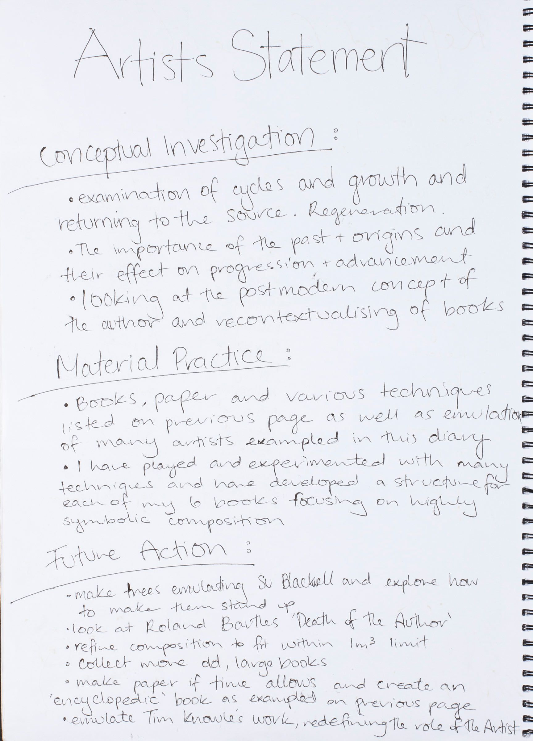 i like the idea of dividing an artist statement into conceptual i like the idea of dividing an artist statement into conceptual investigation materials practice